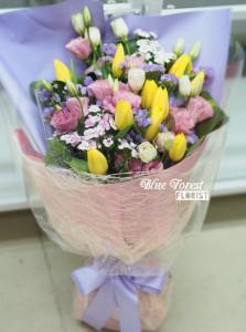 荷蘭黃色鬱金香花束10枝裝