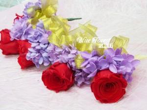 日本保鮮玫瑰襟花