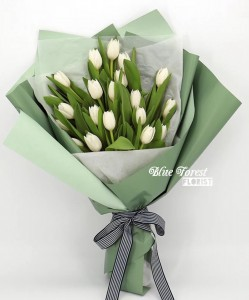 荷蘭白色鬱金香花束