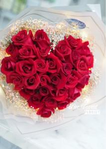 必冧推介*30枝心形紅玫瑰花束