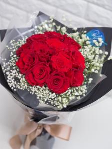 情人節系列 *保鮮•愛*永不凋謝日本玫瑰保鮮花花束(紅色*10支裝)