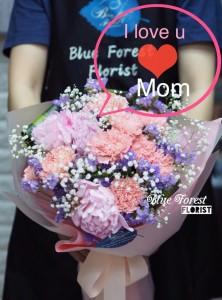 母親節精選Endless Love*粉紅康乃馨配荷蘭牡丹花束