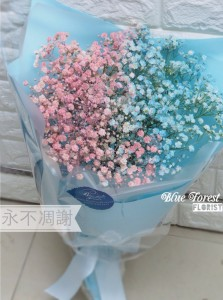 韓式 雙色滿天星花束
