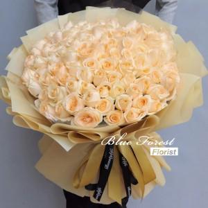 99枝香檳金玫瑰花束
