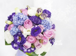 淺紫風信子小玫瑰花球