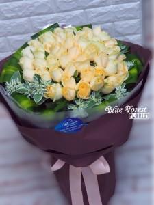 * 完美情人*荷蘭香檳玫瑰圓形大花束