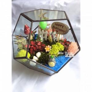 P2820龍貓微景觀玻璃瓶植物