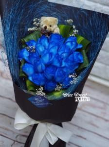 18枝荷蘭深藍玫瑰花束