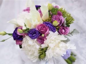 法式白牡丹馬蹄蘭花球