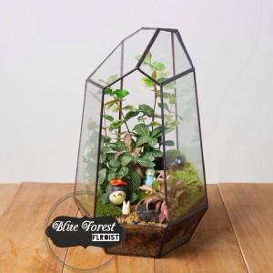 P205龍貓微景觀玻璃瓶植物
