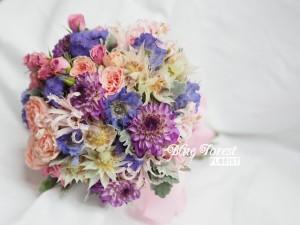 粉紫色系日式花球