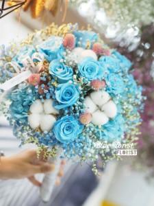 日本淺藍玫瑰保鮮花花球