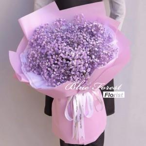 情人節系列 來自星星的你*韓式淺紫色滿天星花束(可自選顏色粉紅色,藍色,紫色)