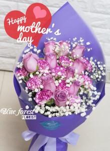 *母親節精選-玫瑰+康乃馨花束
