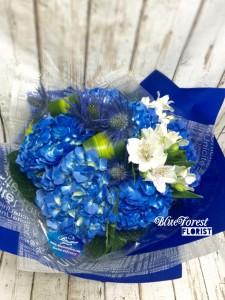 The Earth*荷蘭藍繡球圓花束