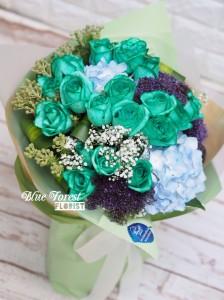 *[特別之最•獨家產品]荷蘭淺綠色玫瑰花花束