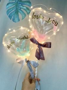 星星led氣球(Love you/Happy birthday兩款可供選擇)*可加於花束內*氣球約15*18cm