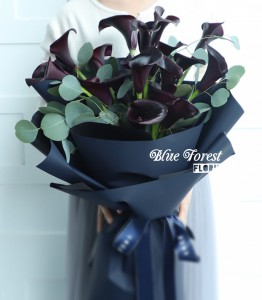 荷蘭紫黑色馬蹄蘭簡約花束