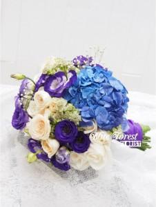 荷蘭紫藍繡球配桔梗花球