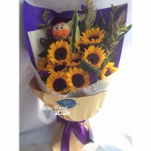 微笑的太陽*10支台灣向日葵花束
