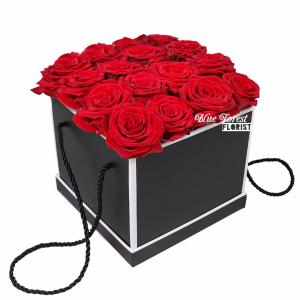 肯亞紅玫瑰花盒