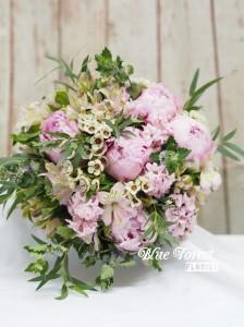 荷蘭粉牡丹花球