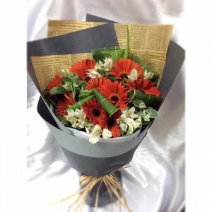 祝福*10枝台灣紅太陽花束