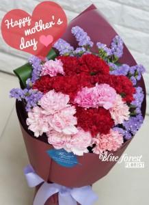 *母親節精選-混合色康乃馨花束