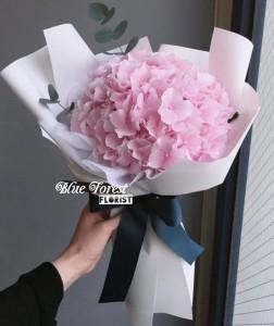 情人節系列 荷蘭淡粉色秀球花束*