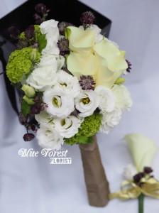 白馬蹄蘭新娘花球