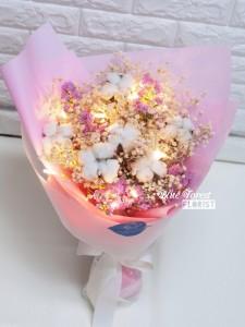保鮮•愛*韓式綿花花束