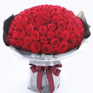99枝紅玫瑰簡約花束