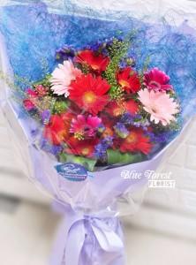 雙色太陽花畢業花束(粉紅/紅)