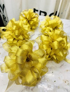 開張剪綵花球(金色)