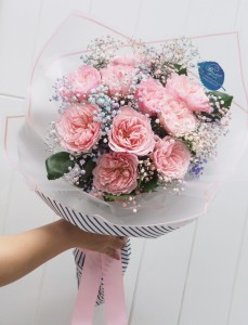 *荷蘭大裝Garden Rose花束(10支)