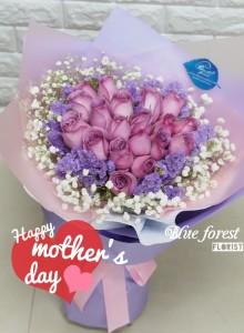 *母親節精選-20枝玫瑰心形花束